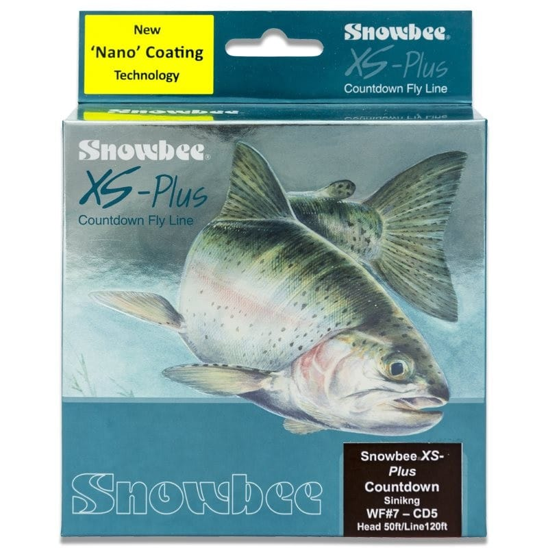 XS Plus Nano Countdown Red 5ips Sinking Fly Line Brown & Red WFCD5