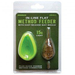 In Line Flat Method Feeder & Easy Release Bait Mould