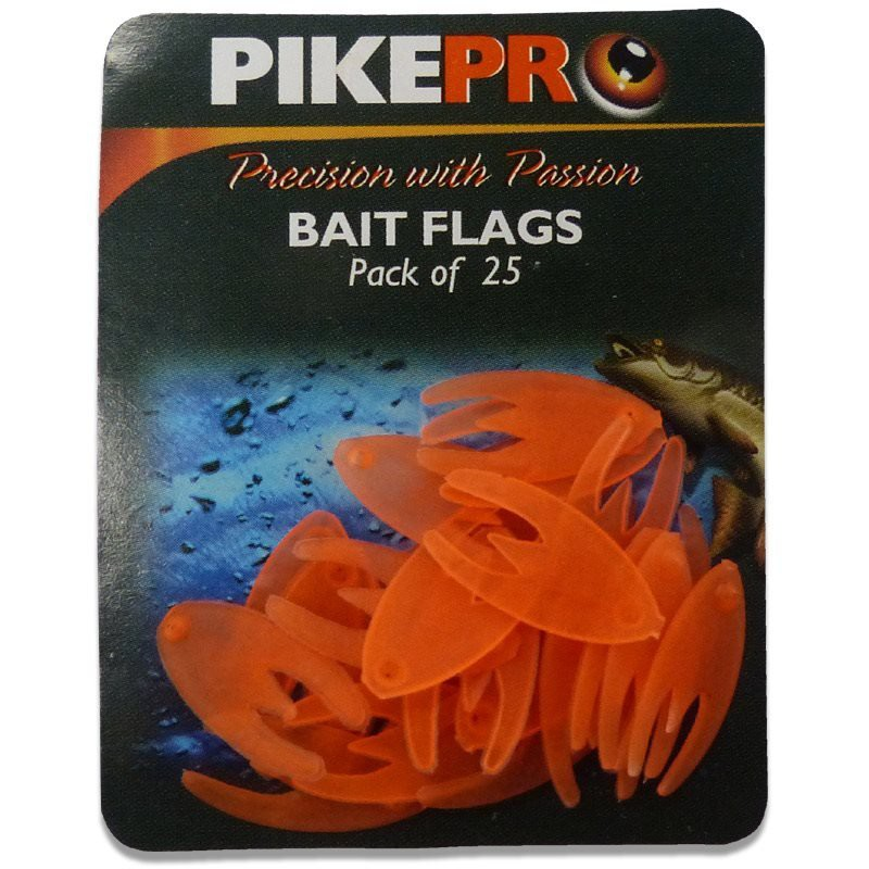 Bait Flags Orange 25pcs
