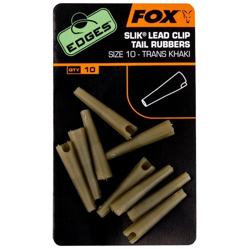 Edges Slik Lead Clip Tail Rubbers Size 10 Pack of 10