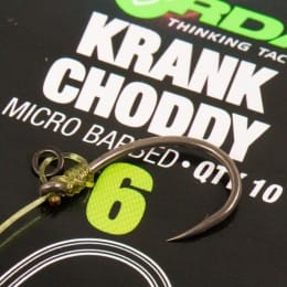 Krank Choddy Micro Barbed Carp Hooks Pack of 10