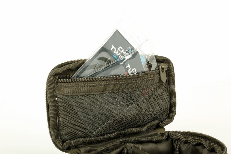 Nash Bits Pouch Medium with a waterproof base and multiple pouches image 3