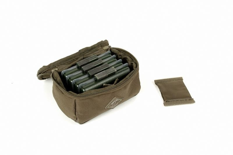Nash Bits Pouch Medium with a waterproof base and multiple pouches image 4