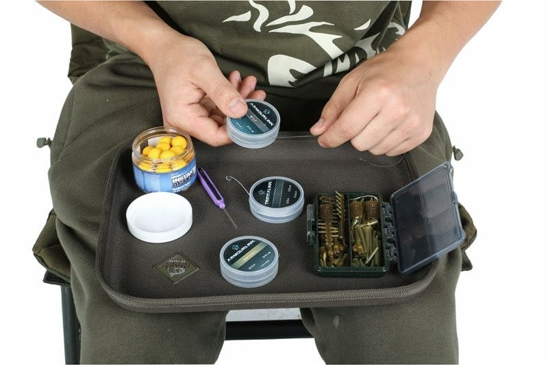 Bivvy Tray with a non-slip surface for rig tying, eating & more image 3