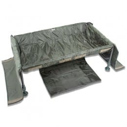 Carp Cradle Deluxe with a kneeling pad and external pocket