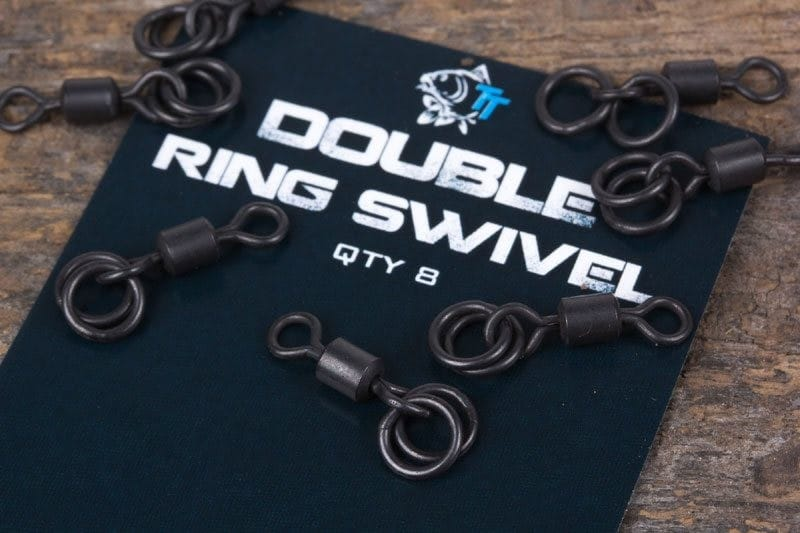 Double Ring Swivel (8 per pack) - high strength, zero glare image 1