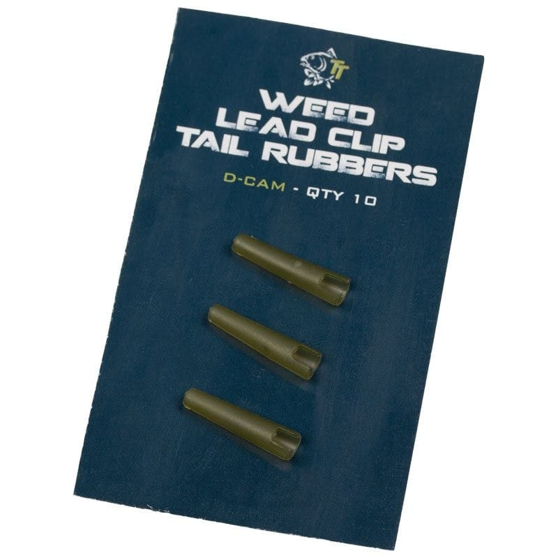 Weed Lead Clip Tail Rubbers Pack of 10