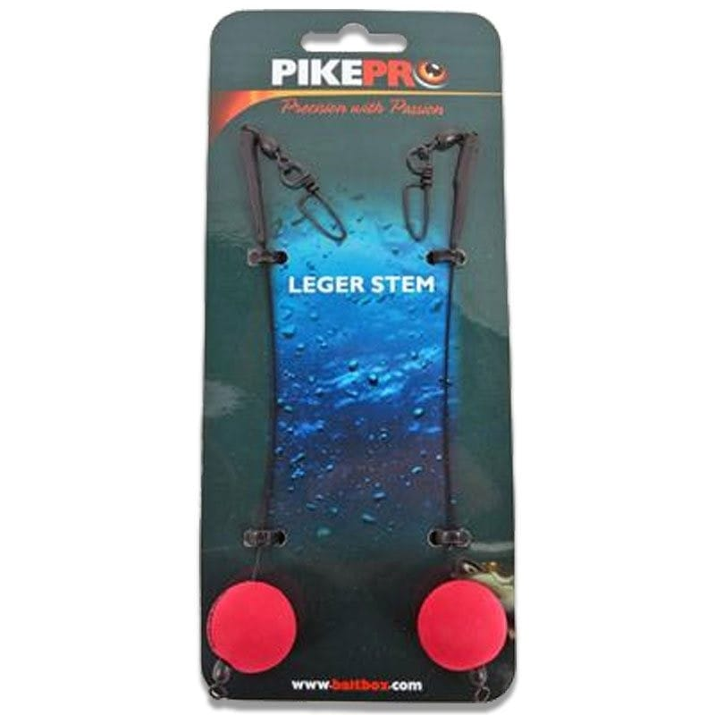 Wire Leger Stem Red 2pcs