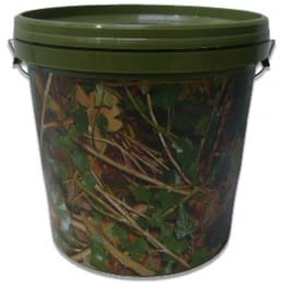Camo Bucket With Lid And Internal Tray