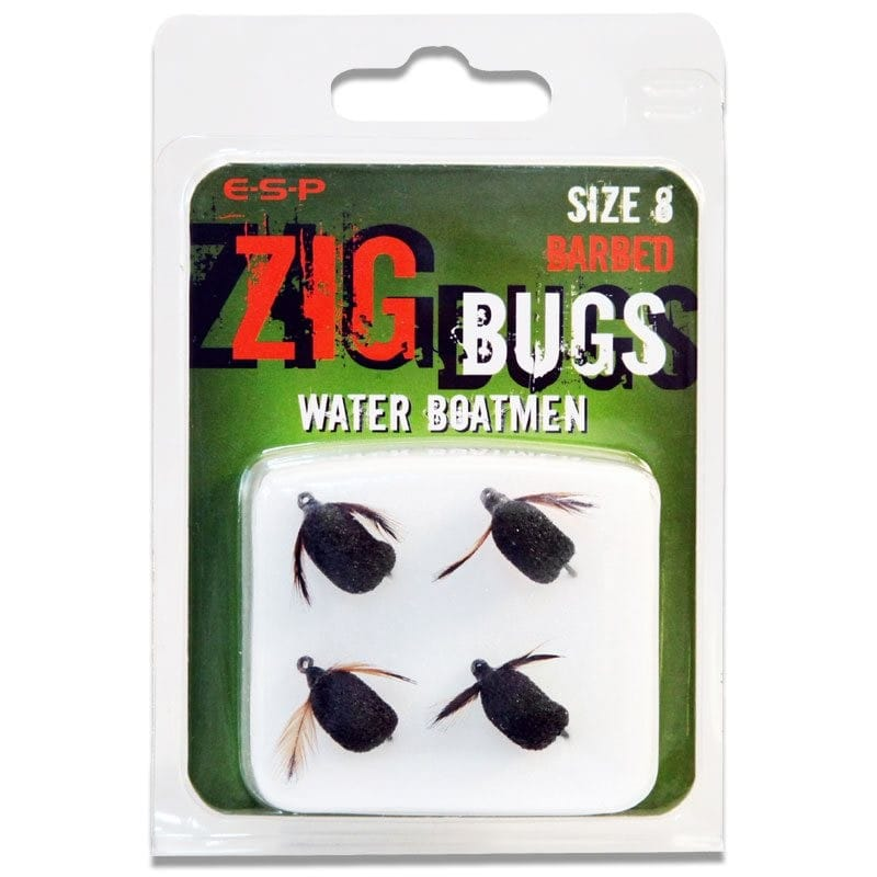 Zig Bugs Water Boatmen Barbed Pack of 4