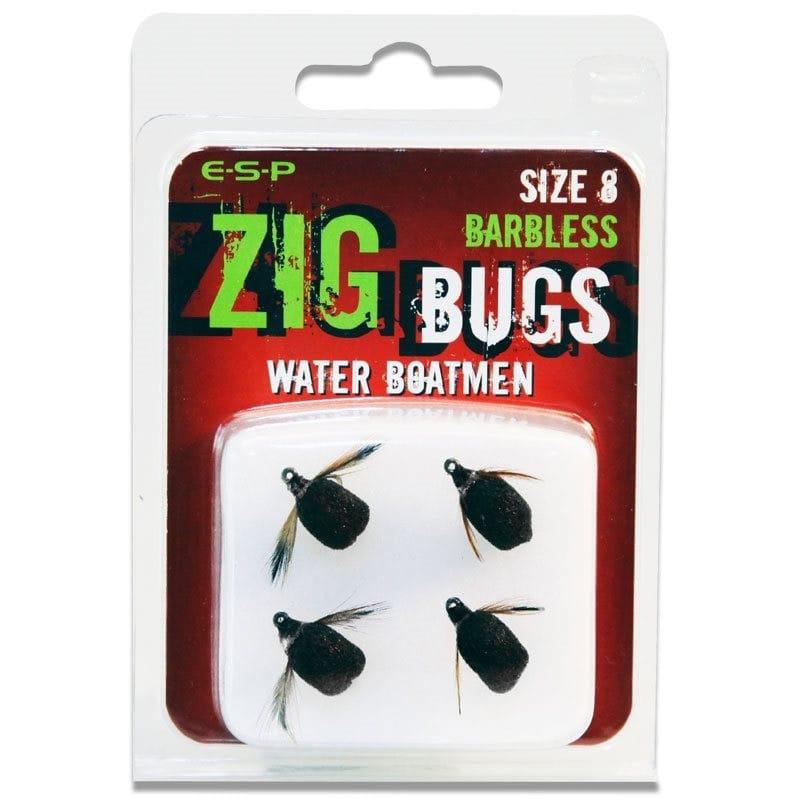 Zig Bugs Water Boatmen Barbless Pack of 4