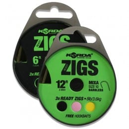 Ready Zigs Pack of 3 plus Free Hookbaits