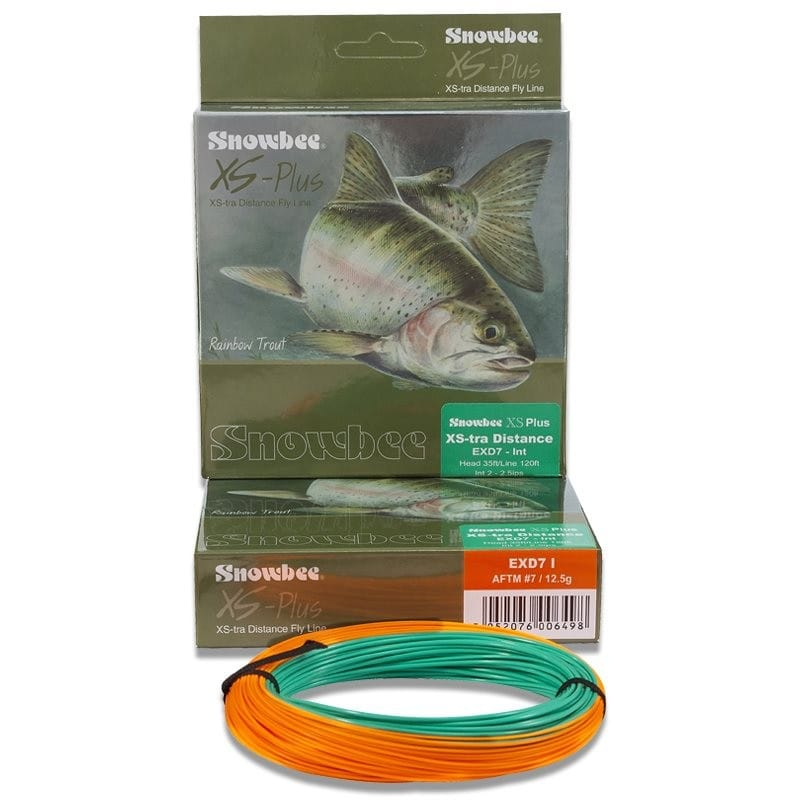 XS Plus XStra Distance Intermediate Fly Line Kelly Green & Orange EXDI