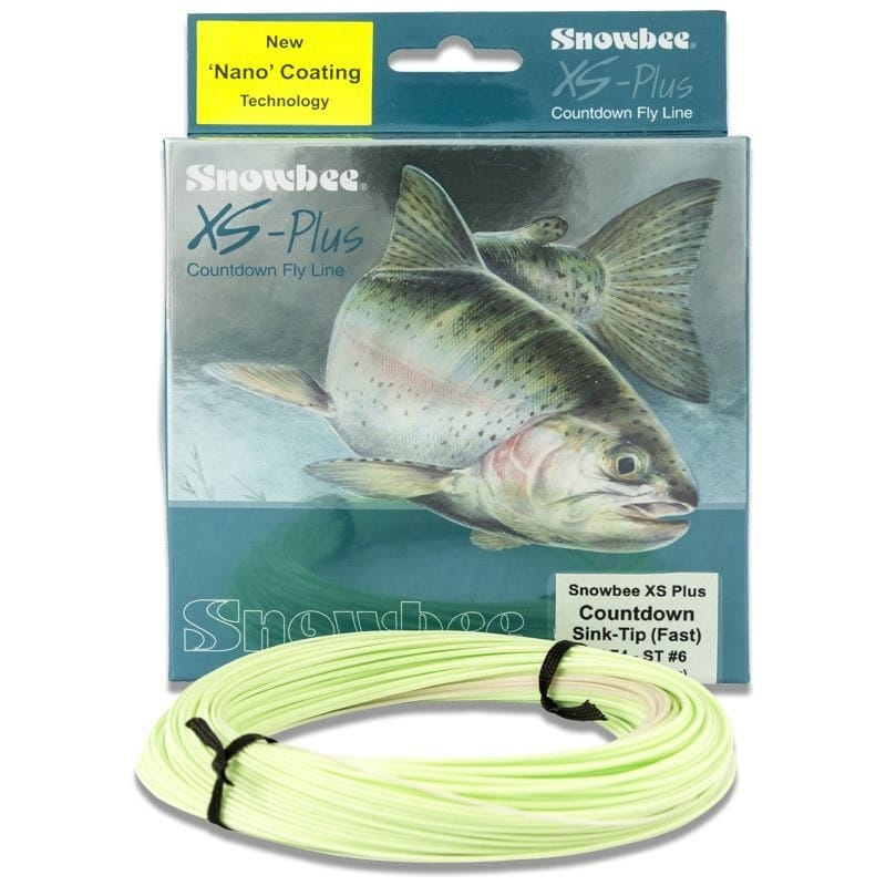 XS-Plus Countdown 4ips Sink-Tip Fly Line Clear/Lime WFCDF4-7ST