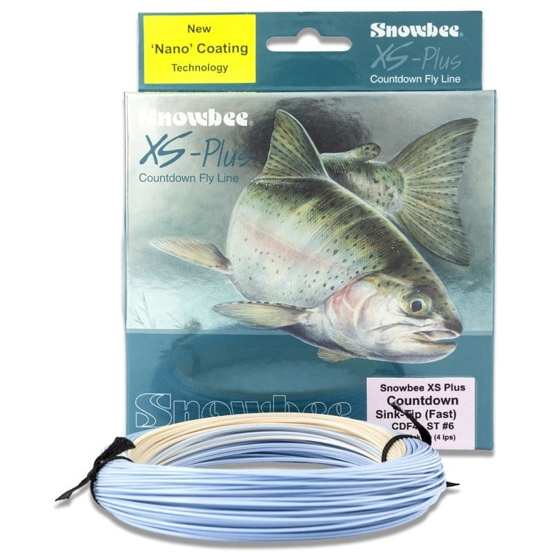 XS-Plus Countdown 4ips Sink-Tip Fly Line Clear/Blue WFCDF4-12ST