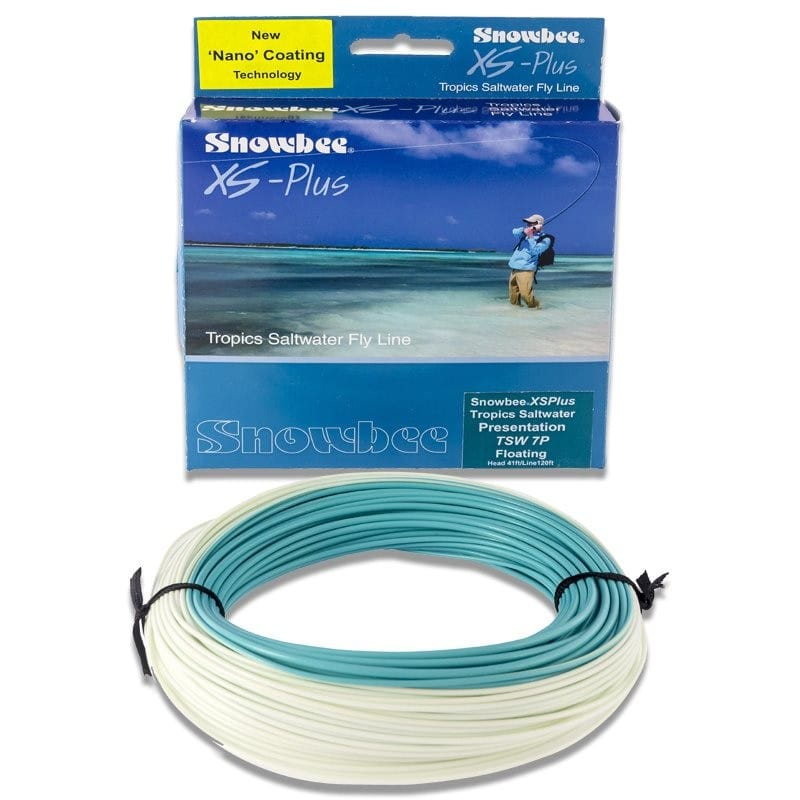 XS Plus Tropics Saltwater Floating Presentation Fly Line Light Blue & Aqua TSWPF image 1