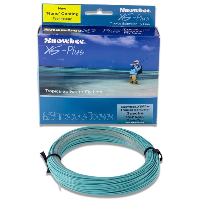 XS Plus Tropics Saltwater Sink Tip Spectre Fly Line Clear & Aqua TSWSST image 0