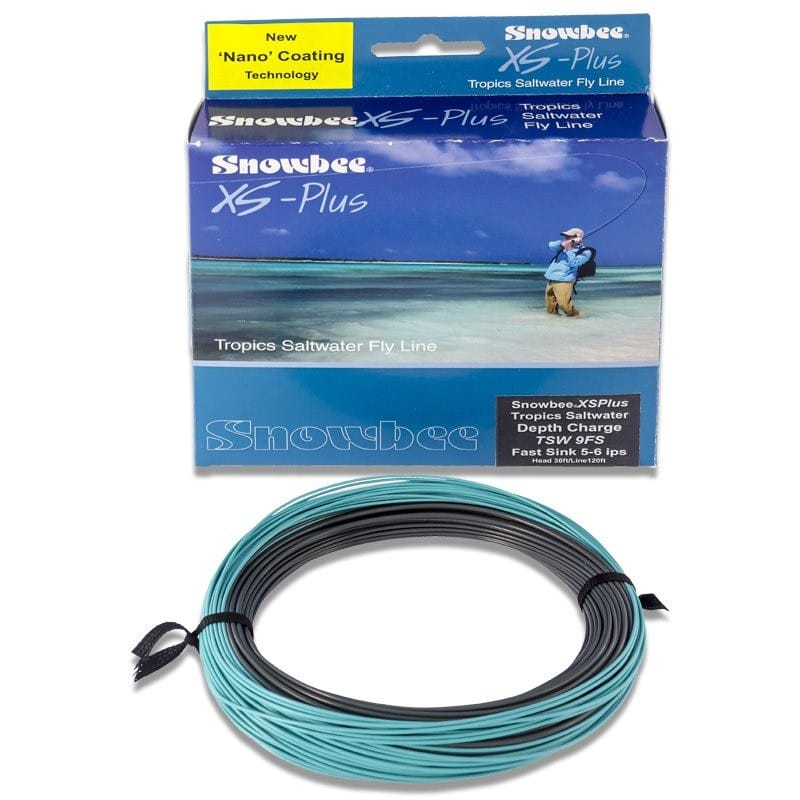 XS Plus Tropics Saltwater Sinking Depth Charge Fly Line Graphite & Aqua TSWDCFS