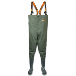 Heavy Duty Nylon Chest Waders Green