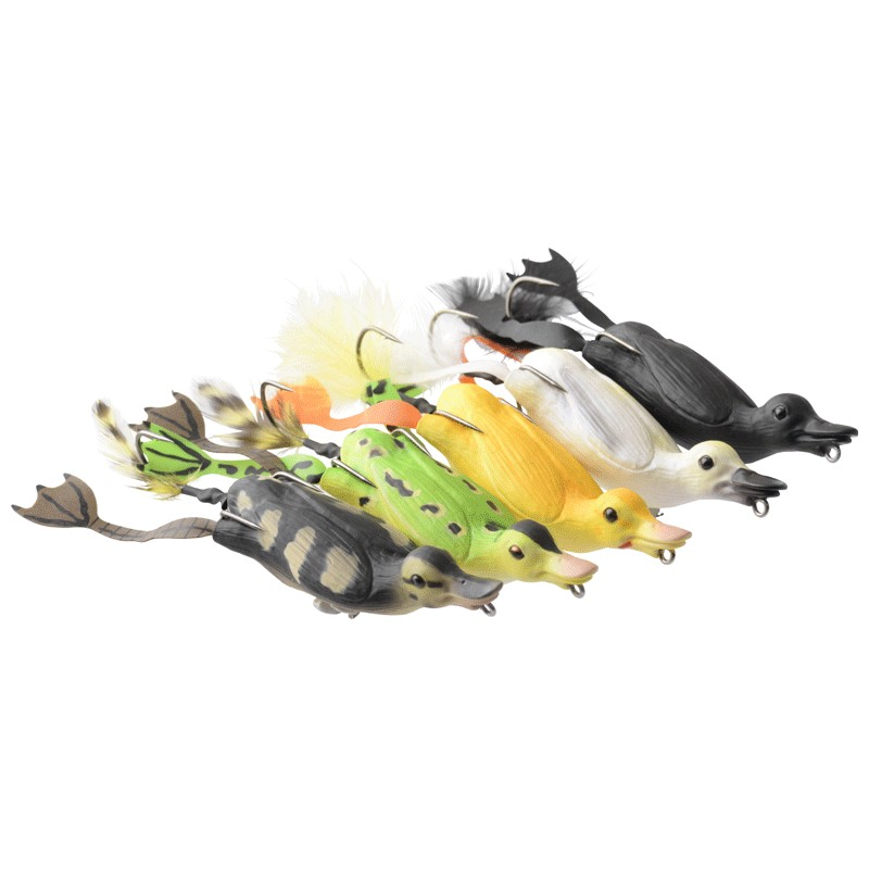 3D Fruck Hollow Duckling 10cm Weedless Surface Lures image 1