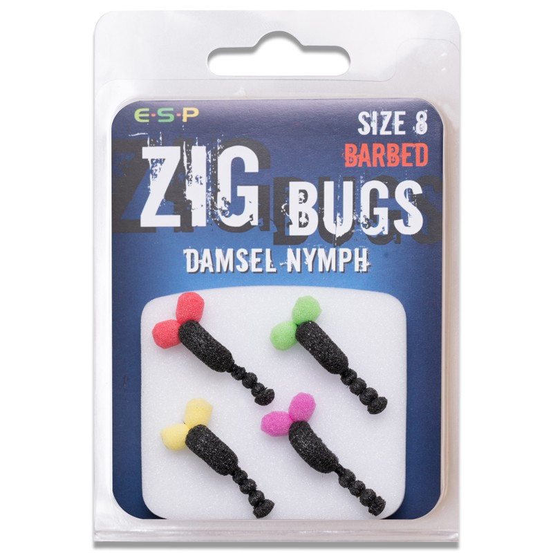 Zig Bugs Damsel Nymph Pack of 4