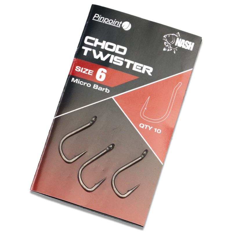 Pinpoint Chod Twister Micro Barbed Carp Hooks Pack of 10