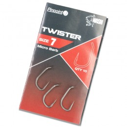Pinpoint Twister Barbed Carp Hooks (10 per pack)