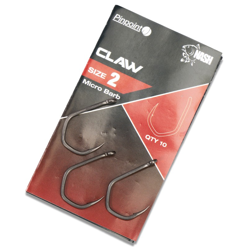 Pinpoint Claw Micro Barbed Carp Hooks Pack of 10