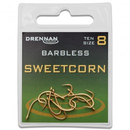 Eyed Specimen Sweetcorn Barbless Hooks
