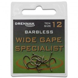 Eyed Specimen Wide Gape Specialist Barbless Hooks Pack of 10