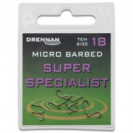 Eyed Specimen Super Specialist Micro Barbed Hooks Pack of 10