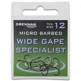 Eyed Specimen Wide Gape Specialist Micro Barbed Hooks Pack of 10