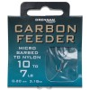 Micro Barbed Carbon Feeder Hooks To Nylon