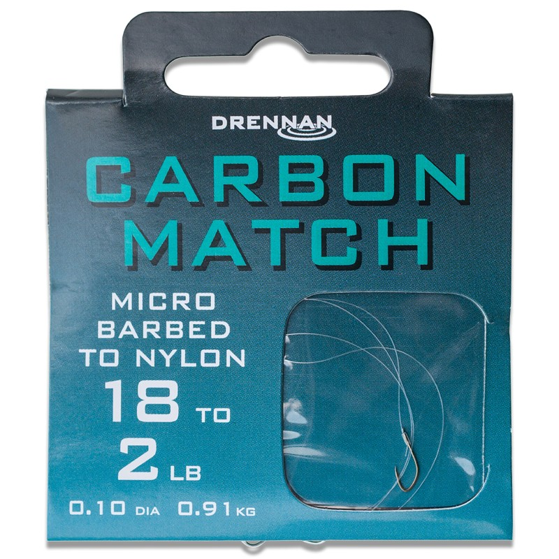 Micro Barbed Carbon Match Hooks To Nylon