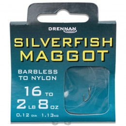 Barbless Silverfish Maggot Hooks To Nylon