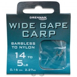 Barbless Wide Gape Carp Hooks To Nylon