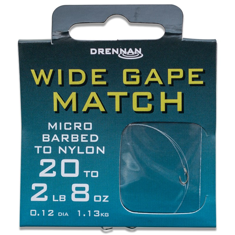 Micro Barbed Wide Gape Match Hooks To Nylon