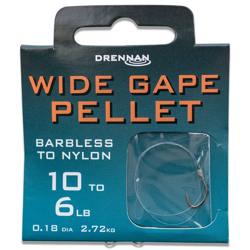 Barbless Wide Gape Pellet Hooks To Nylon image 1