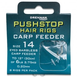 Barbless Pushstop Hair Rigs Carp Feeder