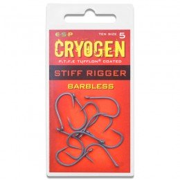 Cryogen Stiff Rigger Barbless Carp Hooks Pack of 10