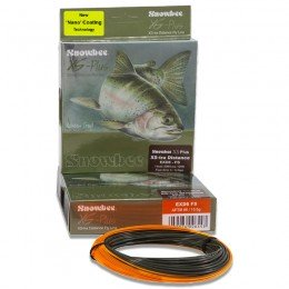 XS Plus XStra Distance Fast Sinking Fly Line Dark Green & Orange EXDFS