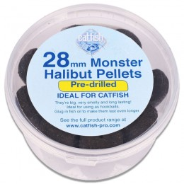 Monster Drilled Halibut Pellets 28mm