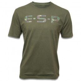Camo Logo T Shirt Olive Green 100% Cotton