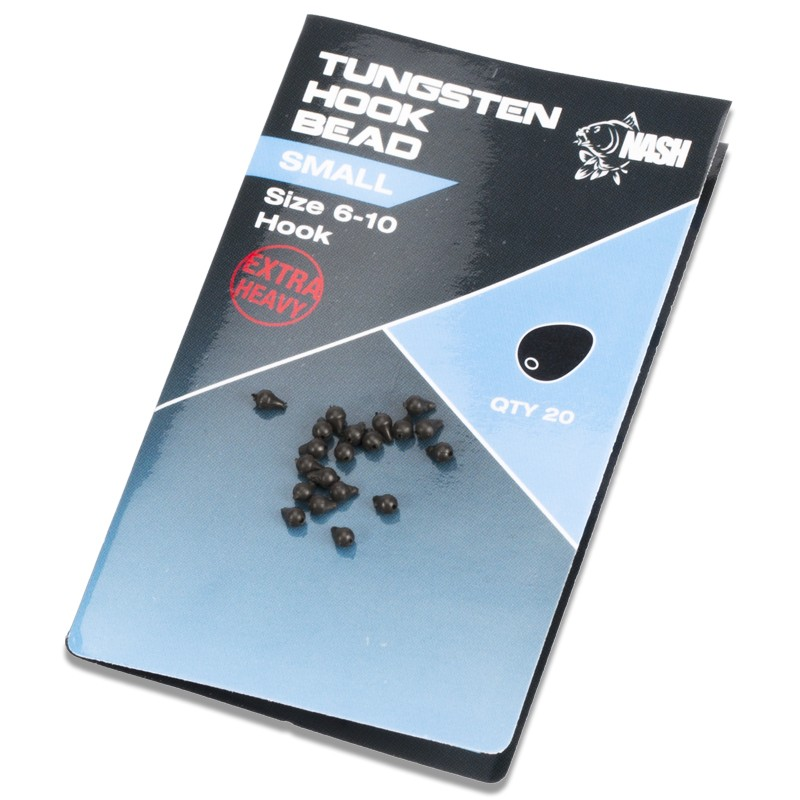 Tungsten Hook Beads Pack of 20