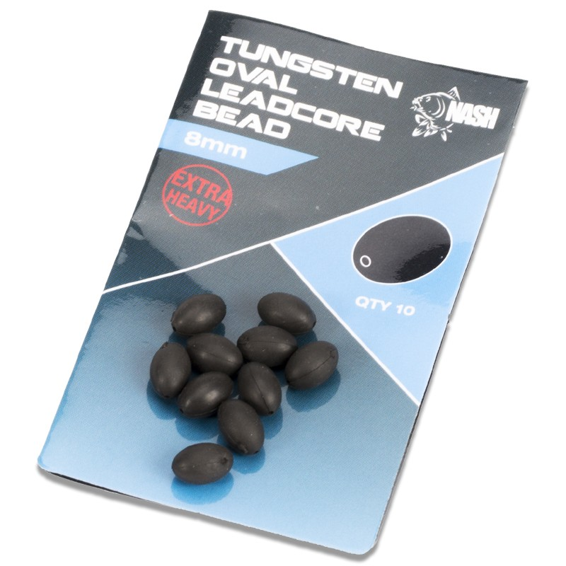 Tungsten Oval Leadcore Bead Pack of 10