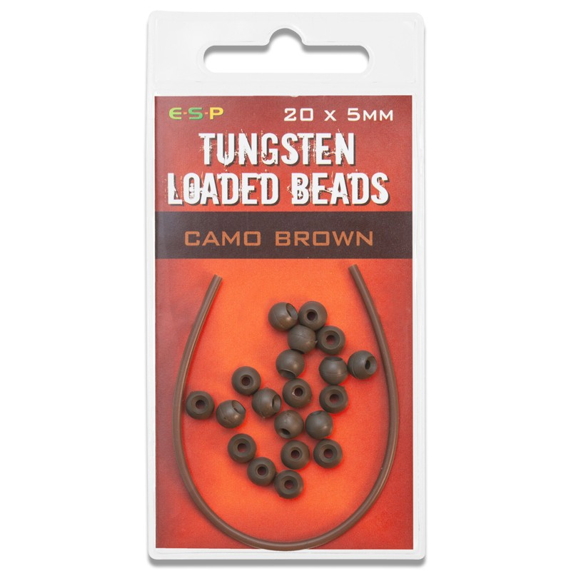 Tungsten Loaded Beads 5mm Pack of 20