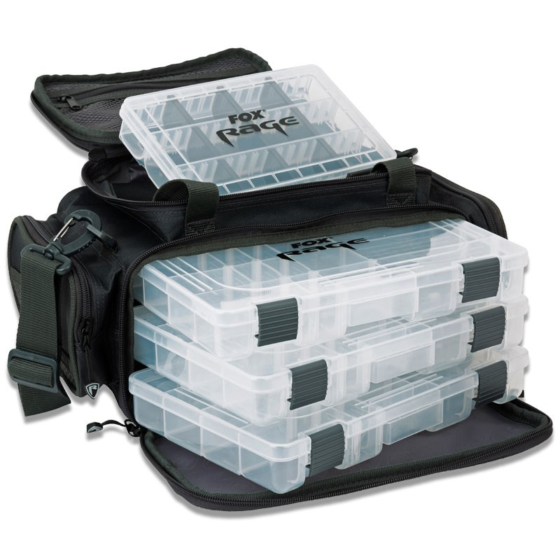 Lure and Tackle Bag Complete With 6 Lure Boxes