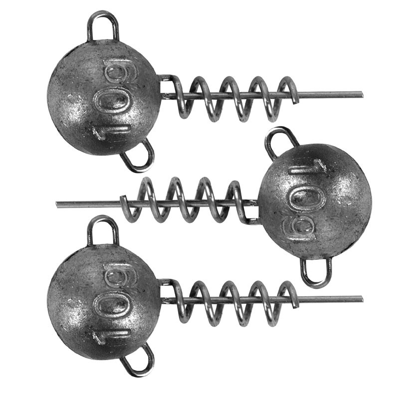 Corkscrew Round Jig Heads Pack of 3 image 2