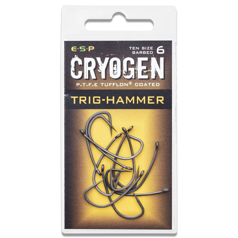 Cryogen Trig Hammer Hooks Barbed Pack of 10