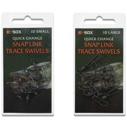 Esox Quick Change Snap Link Trace Swivels